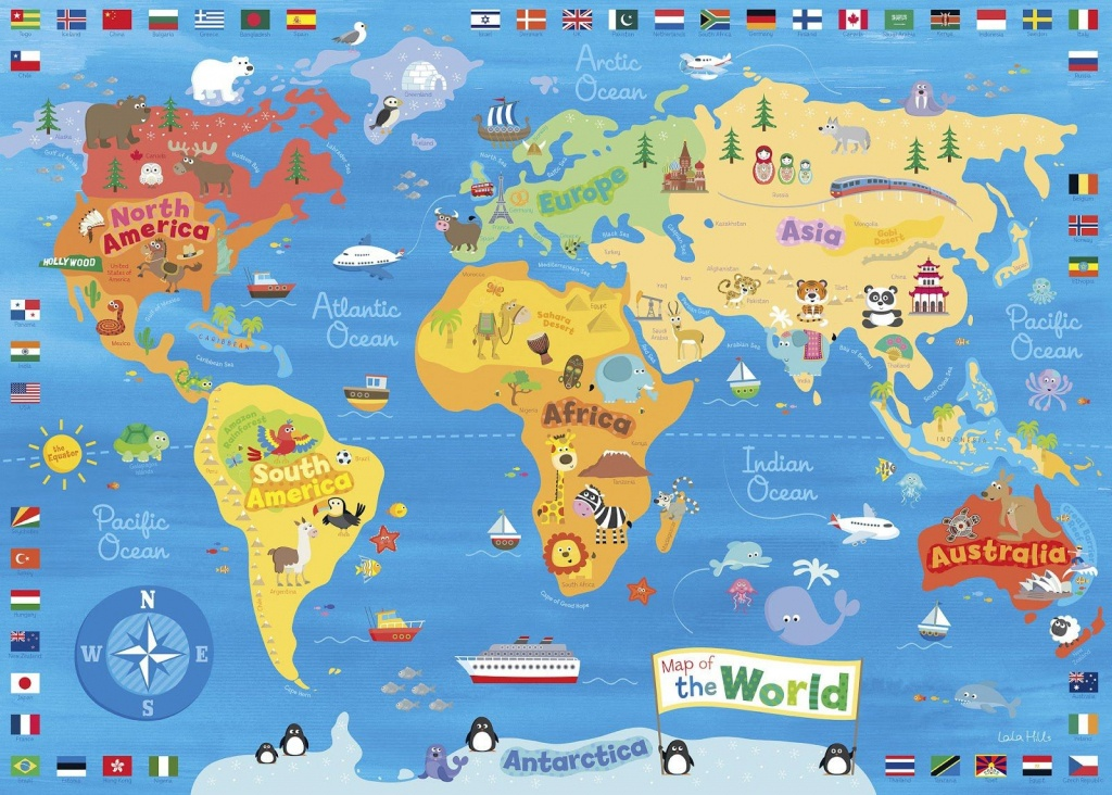 Children S Map Of The World 5 - World Wide Maps - Children's Map Of The World Printable