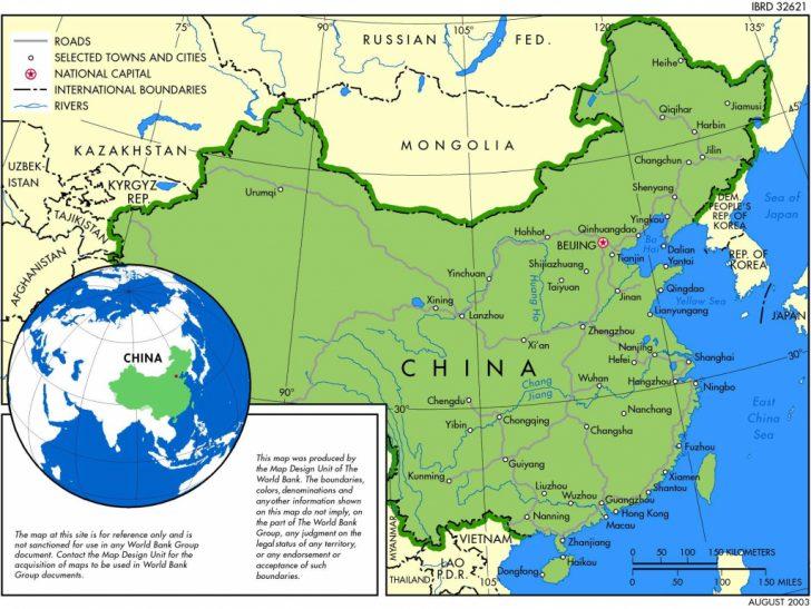 Printable Map Of China