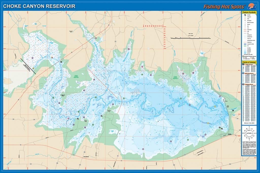 Choke Canyon Reservoir Fishing Map - Texas Fishing Hot Spots Maps