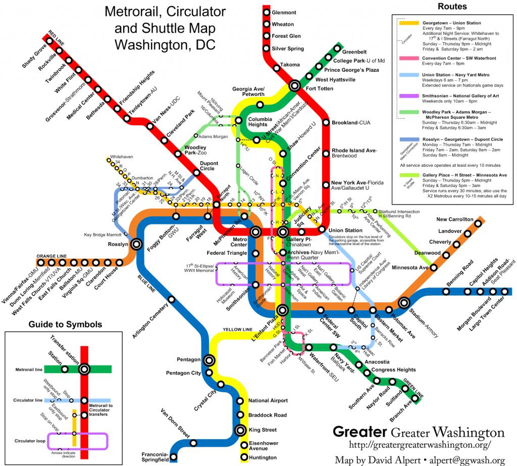 Circulator/metro Map Version 2 – Greater Greater Washington - Printable Metro Map