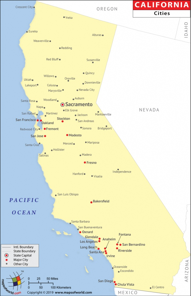 Cities In California, California Cities Map - California Map With All Cities