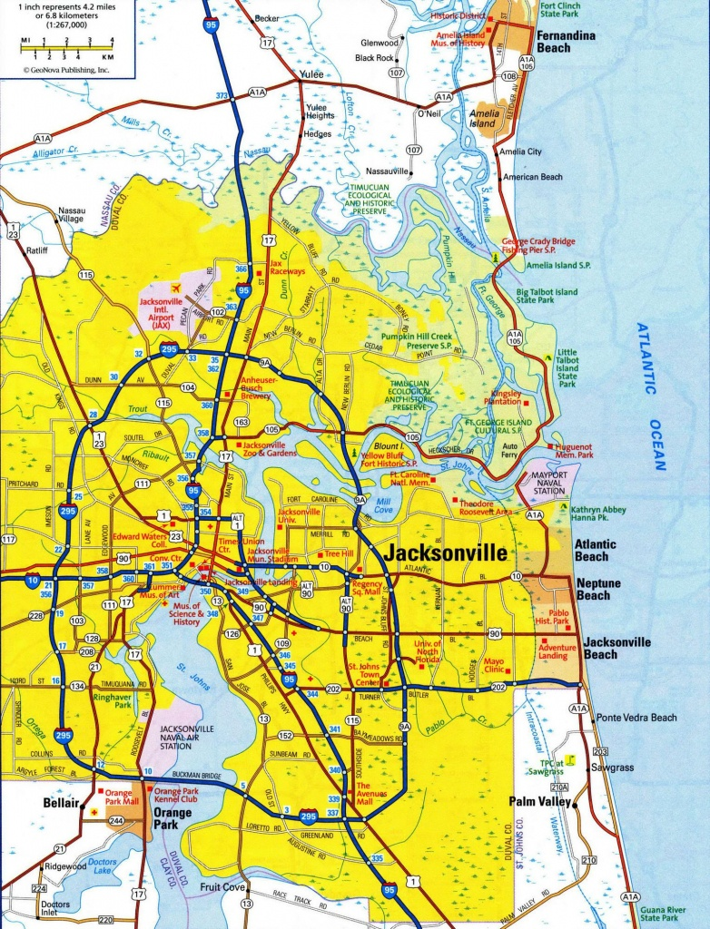 City Map Of Jacksonville Fl - Jacksonville City Limits Map (Florida - Map To Jacksonville Florida