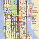 City Of New York : New York Map | Mta Bus Map | Maps In 2019 | Bus   Printable Manhattan Bus Map