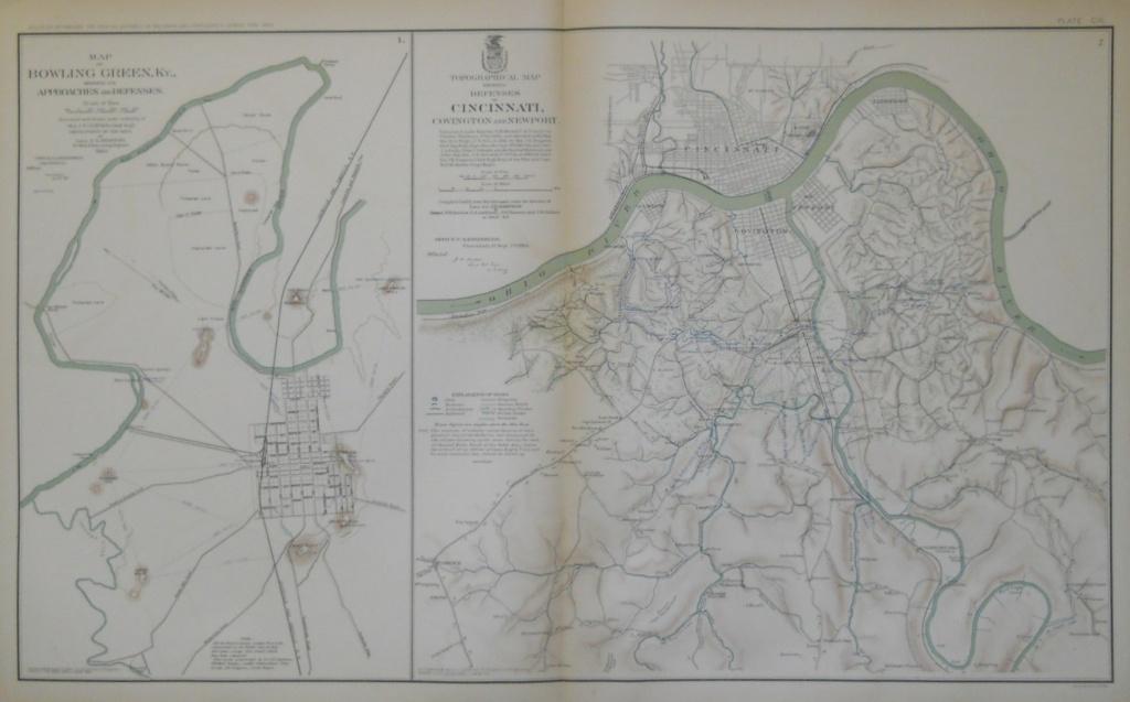 Civil War Atlas, Bowling Green, Ky., Cincinnati, Oh. - Philadelphia Print - Printable Map Of Bowling Green Ky
