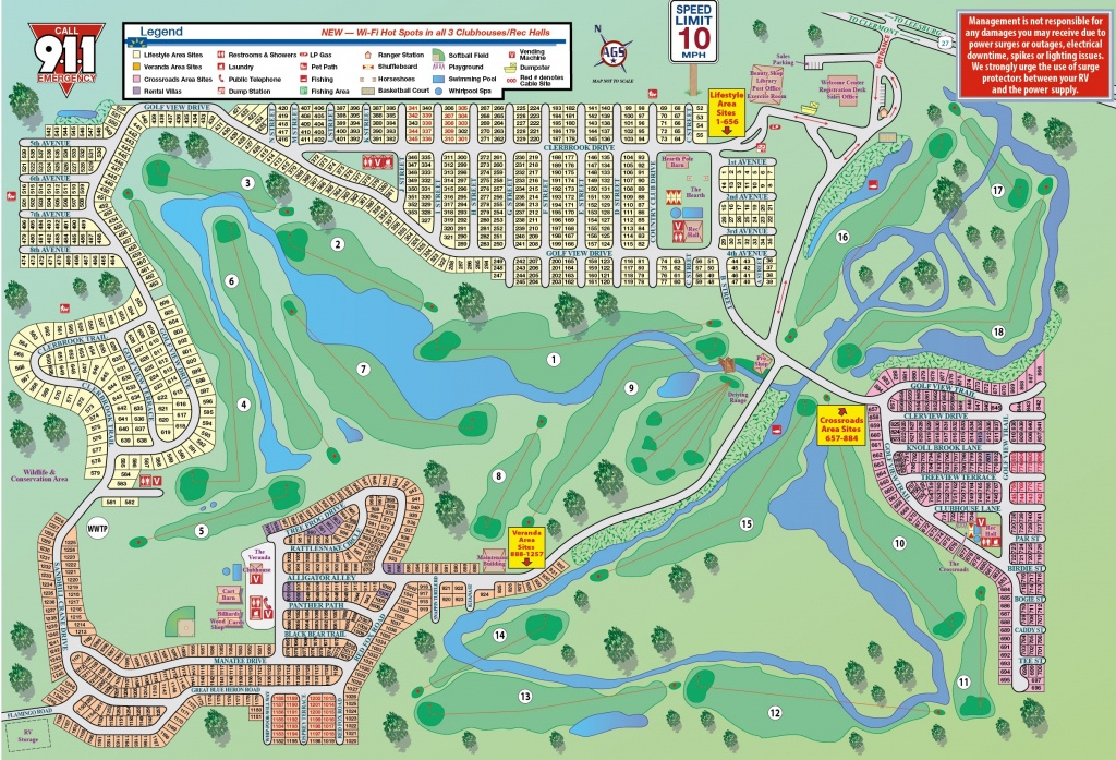 Clerbrook Golf & Rv Resort - Map Of Rv Parks In Florida