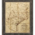 Click Wall Art 'sepia Texas Map' Framed Graphic Art & Reviews - Texas Map Artwork