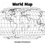 Climate: Latitude And Longitude World Map Grid Layers Of Learning   Printable World Map With Latitude And Longitude