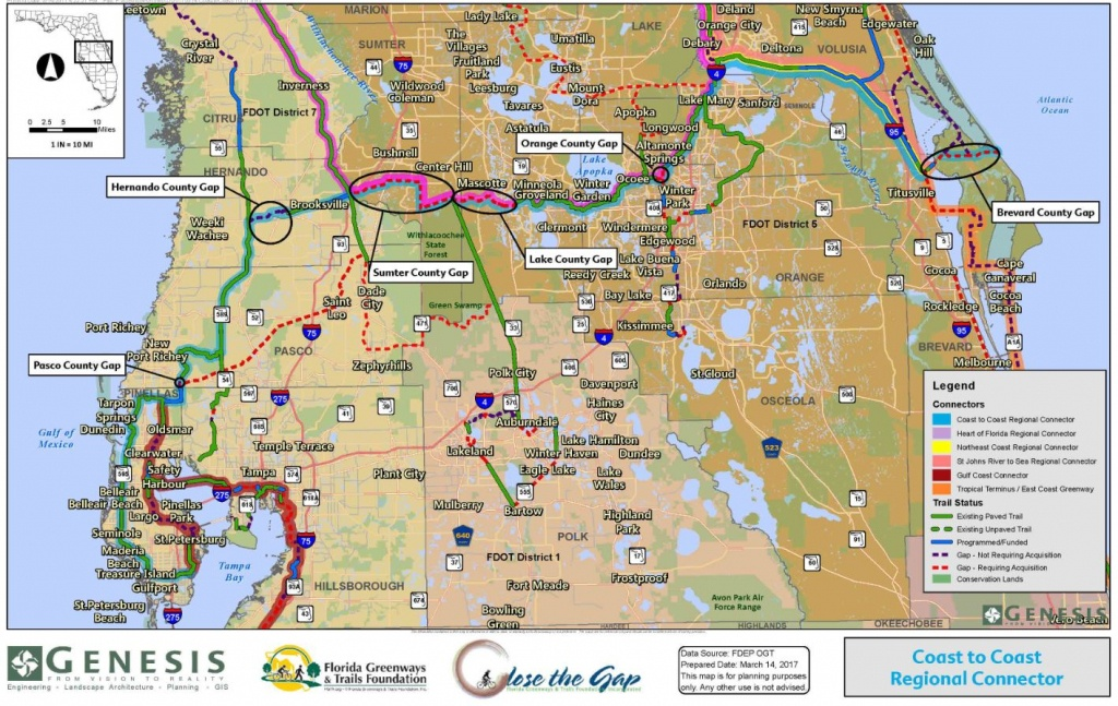 Close The Gaps | Genesis Cei Services - Florida Greenways And Trails Map