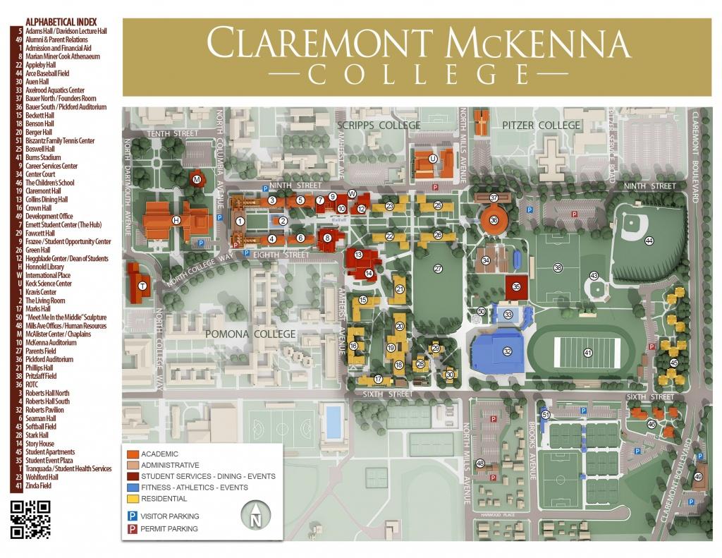 Cmc Campus Maps   Claremont Mckenna College - California Institute Of The Arts Campus Map