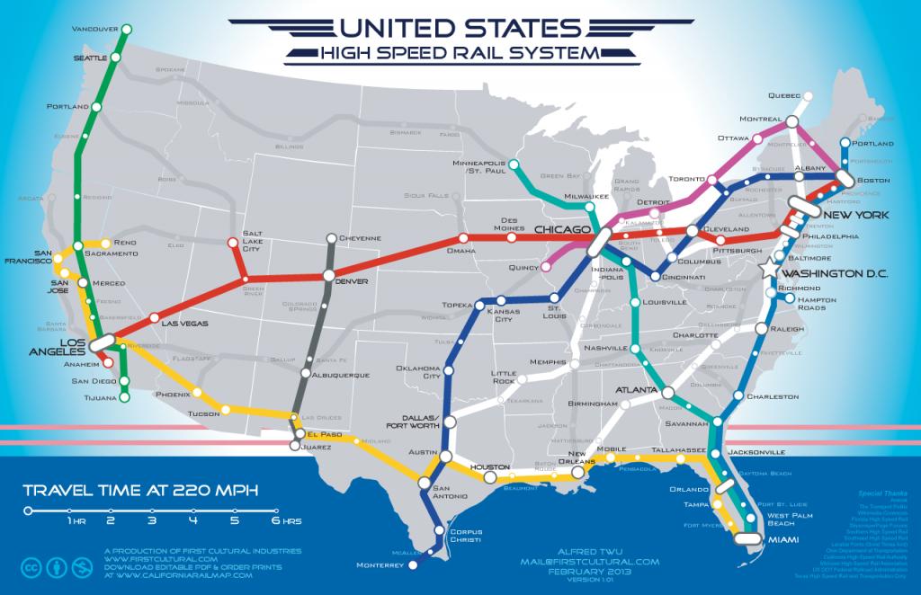 Coast-To-Coast High Speed Rail Map: Fantasy To Reality? | Michigan Radio - Amtrak Station Map Florida