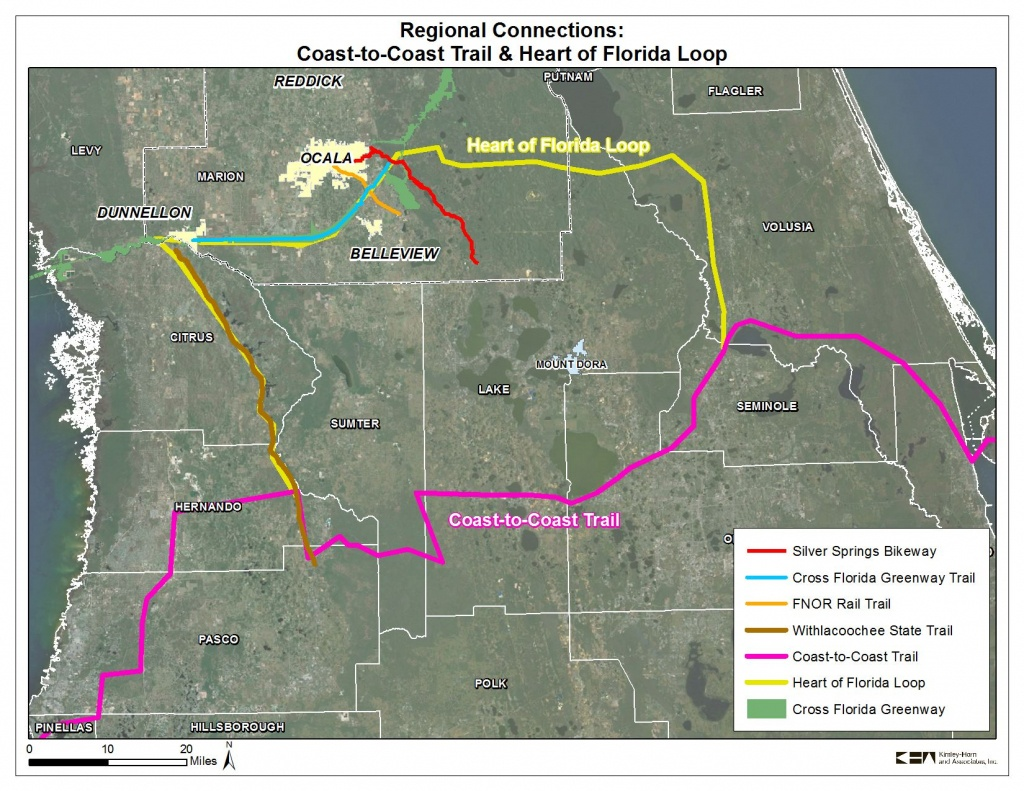 Coast To Coast Trail And Heart Of Florida Loop   2035 Bicycle And - Florida Bicycle Trails Map