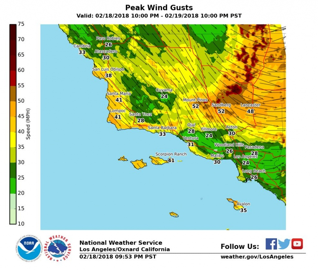 Cold, Windy Storm Could Drop Southern California Snow Levels To - Snow Level Map California