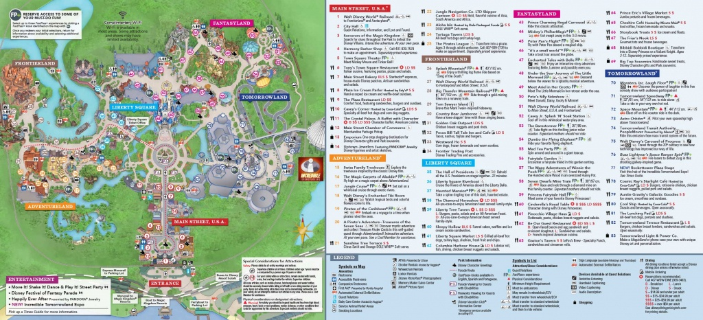 Collection Of Magic Kingdom Printable Map (30+ Images In Collection) - Printable Magic Kingdom Map