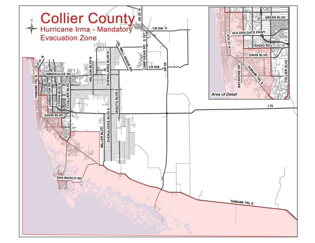 Collier County Evacuation Update | Coastal Breeze News - Lely Florida Map