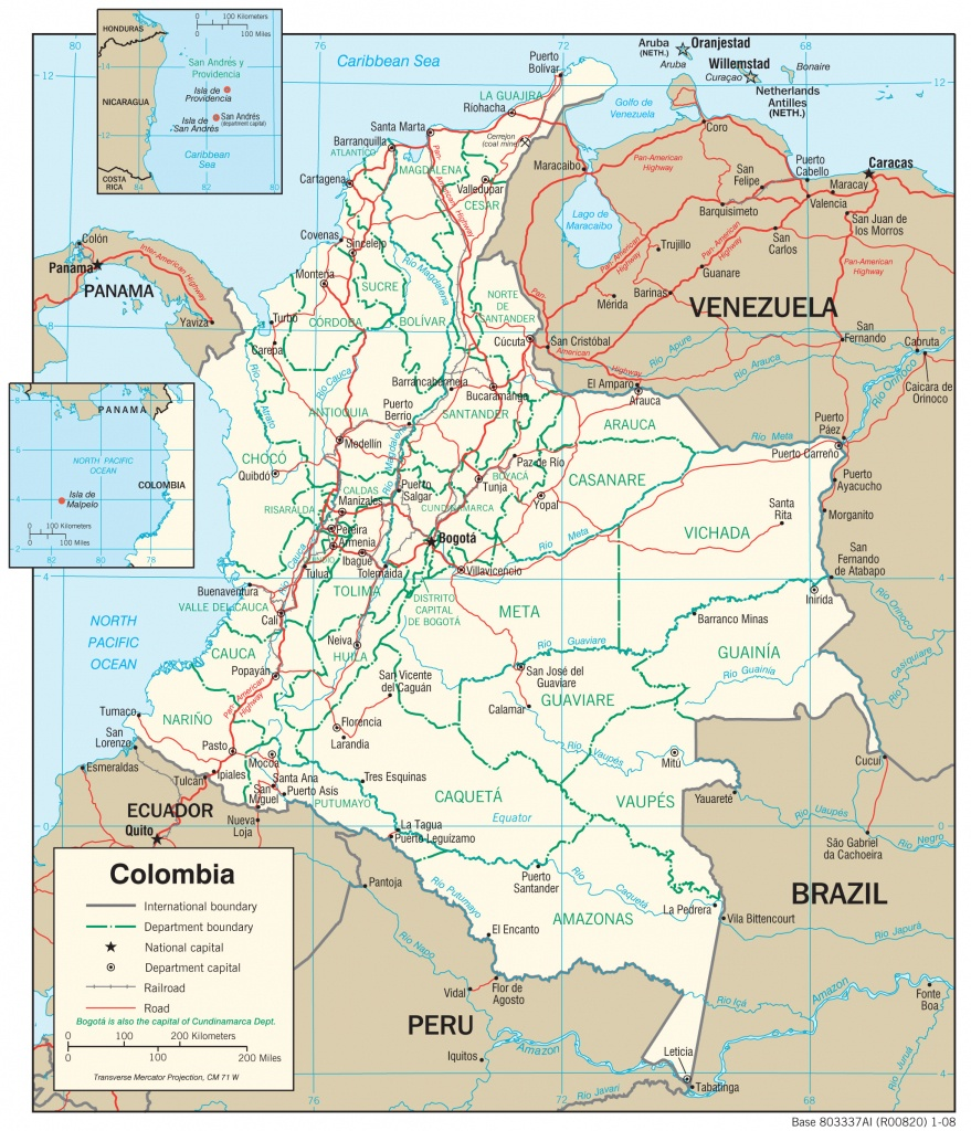 Colombia Maps - Perry-Castañeda Map Collection - Ut Library Online - Printable Map Of Colombia