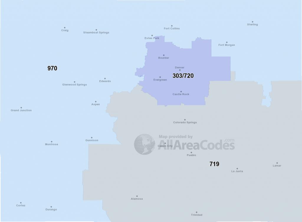 Colorado Area Codes - Map, List, And Phone Lookup - Colorado Springs Zip Code Map Printable