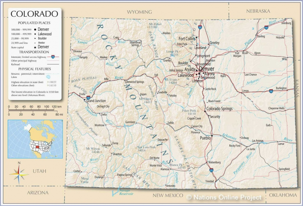 Colorado County Map With Towns Printable Map Of Us With Major Cities - Printable Map Of Colorado