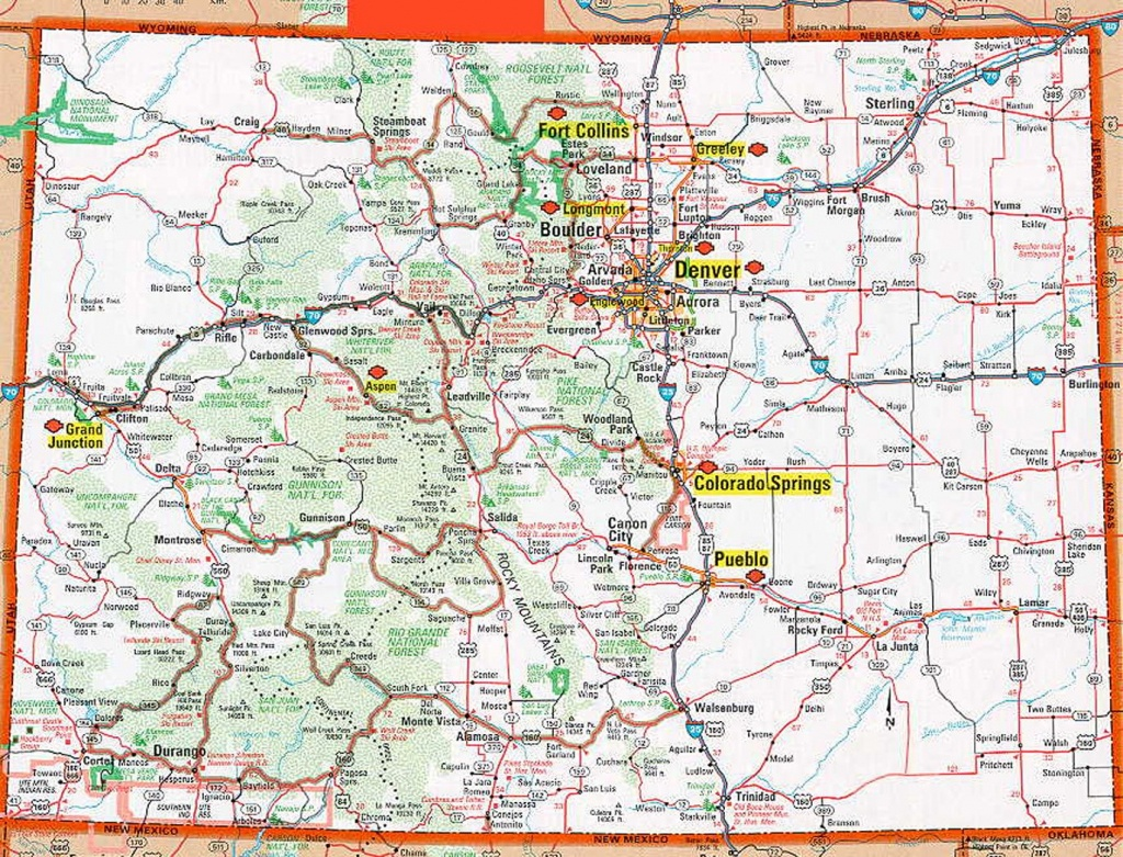 Colorado Map Collection With Printable Online Maps Of Colorado State - Printable Map Of Colorado