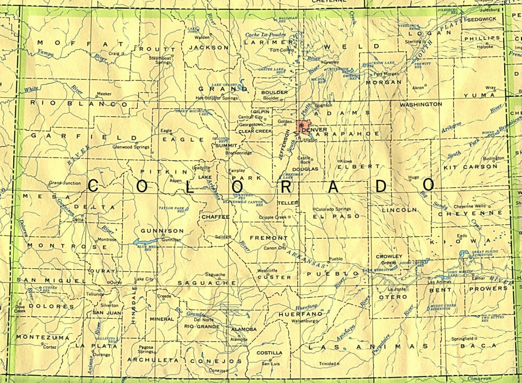 Colorado Maps - Perry-Castañeda Map Collection - Ut Library Online - Printable Map Of Colorado Cities