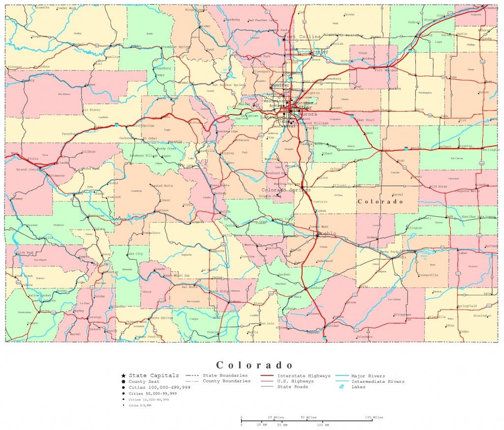 Colorado Printable Map - Printable Road Map Of Colorado