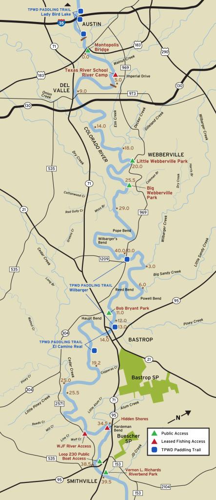 Colorado River Fishing Access - Texas Lake Maps Fishing