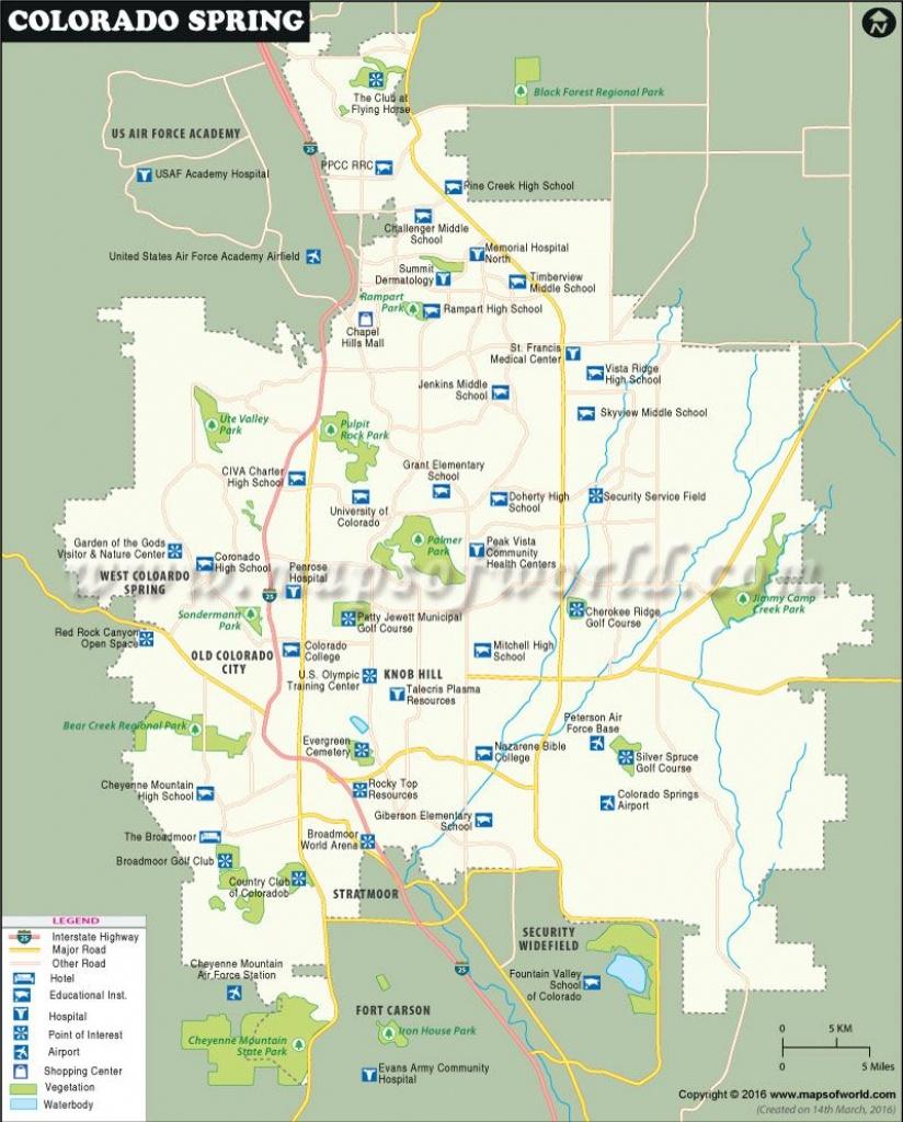 Colorado Springs Map | Usa Maps | Colorado Springs Map, Colorado - Colorado Springs Zip Code Map Printable