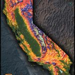 Colorful California Map | Topographical Physical Landscape   California Terrain Map