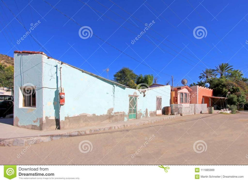 Colorful Traditional Houses In The Streets Of The Mission San - Baja California Real Estate Map