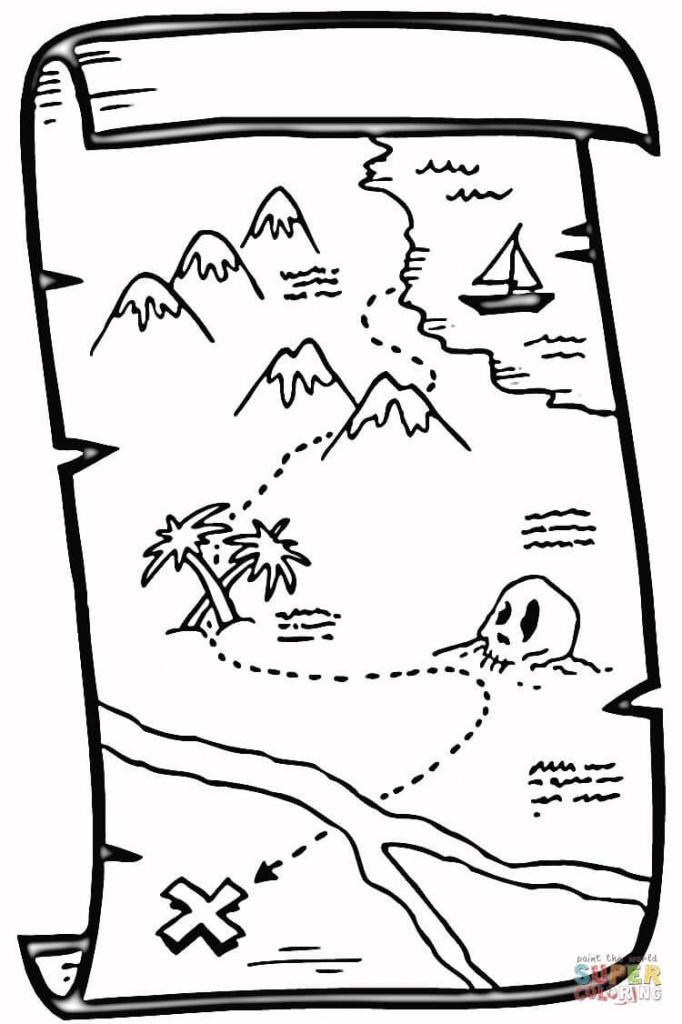 Coloring: 56 Outstanding Printable Treasure Map. Printable Pirate - Printable Treasure Map Template