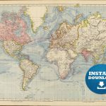 Coloring ~ Free Printable World Map For Kids Within Roundtripticket   Free Printable World Map Poster