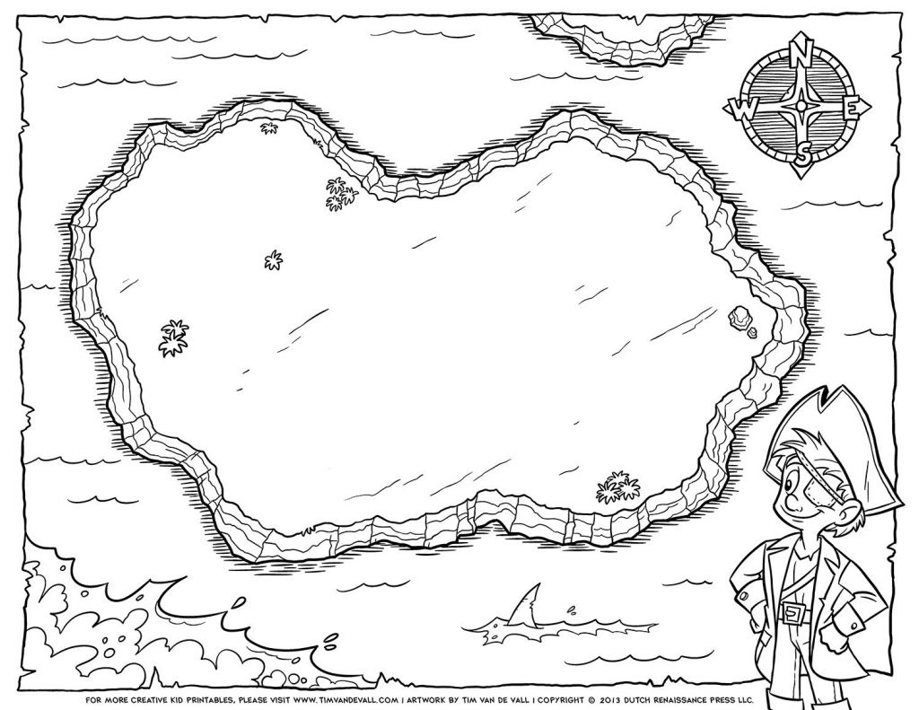 Coloring Page ~ Coloring Page Design Astonishing Printable Pirate - Printable Pirate Map