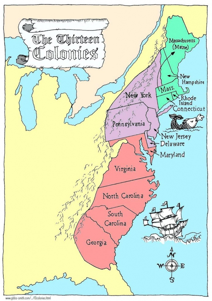 Coloring Pages: 13 Colonies Map Printable Labeled With Cities Blank - 13 Colonies Map Printable