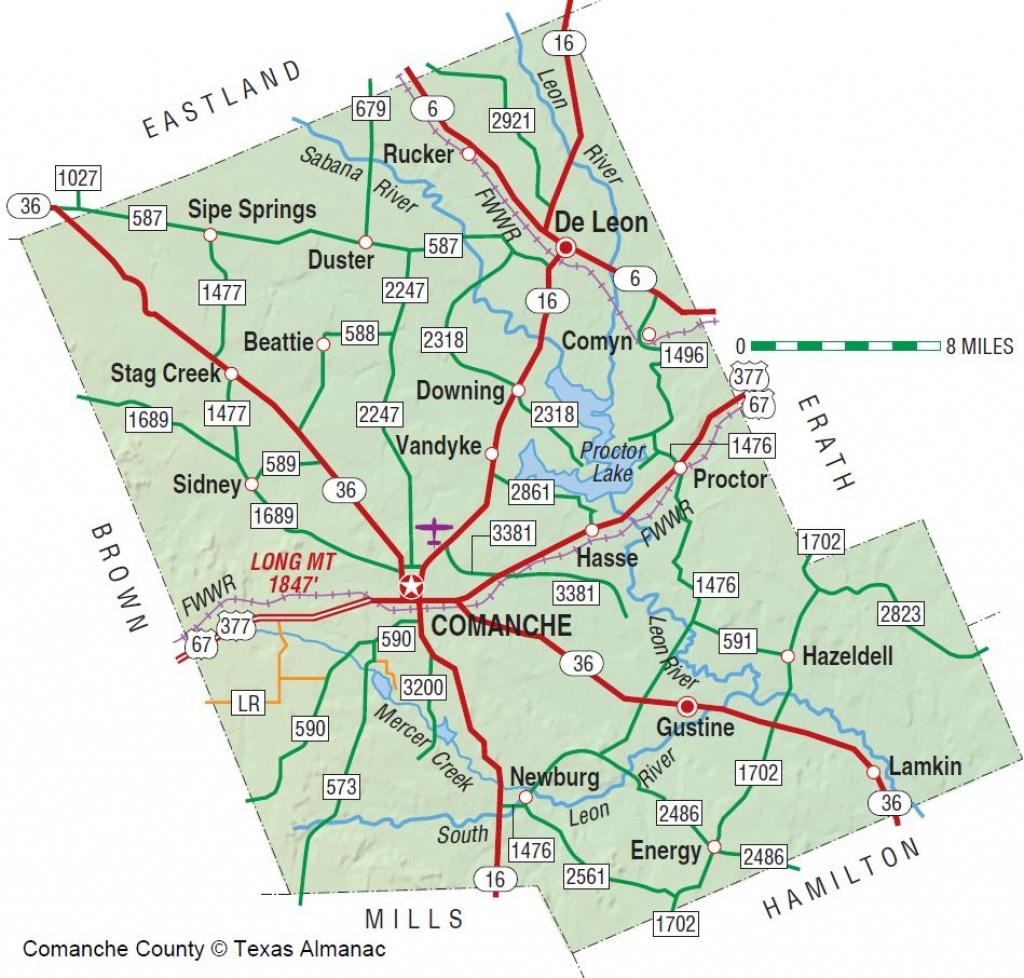 Comanche County | The Handbook Of Texas Online| Texas State - Erath County Texas Map