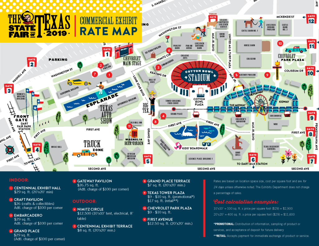 Commercial Exhibitors | State Fair Of Texas - Texas State Fair Parking Map