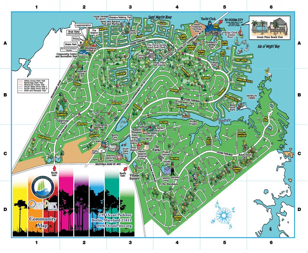 Community Map | Ocean Pines Association | Md - Printable Street Map Ocean City Nj