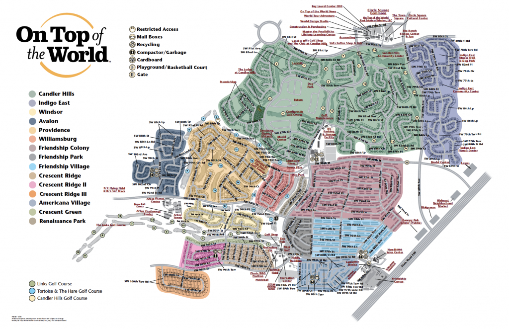Community Map | On Top Of The World Info - Where Is Ocala Florida On A Map