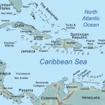 Comprehensive Map Of The Caribbean Sea And Islands   Maps Of Caribbean Islands Printable
