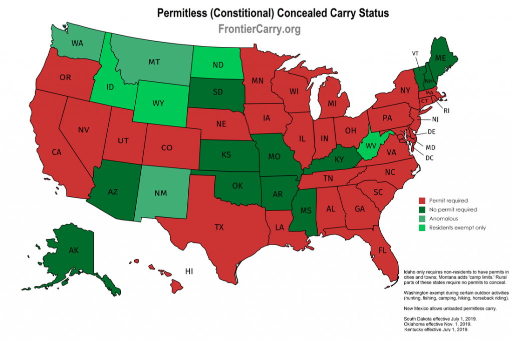 Concealed Carry - Nevada Carry - Florida Ccw Reciprocity Map 2017