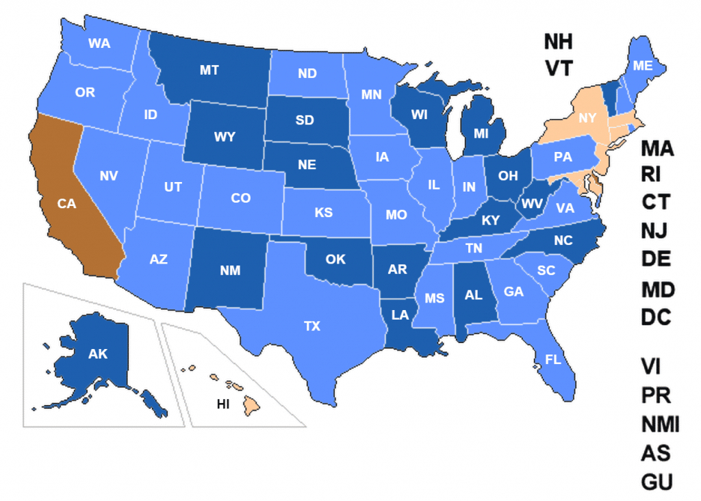 Concealed Carry Permit Reciprocity Changes 8/12/2015 - Usa Carry - Texas Chl Reciprocity Map 2018