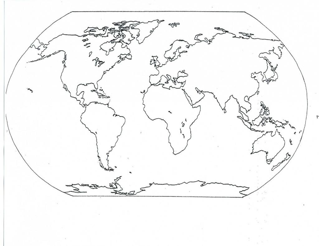 Continents Blank Map | Social | World Map Coloring Page, Blank World - World Map Oceans And Continents Printable