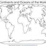 Continents Of The World Worksheets | This Basic World Map Shows The - Continents Of The World Map Printable