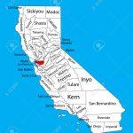 Contra Costa County (California, United States Of America) Vector   La Costa California Map
