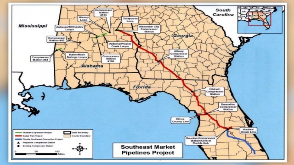 Controversial $3.2 Billion Sabal Trail Natural Gas Pipeline On - Gas Availability Map Florida