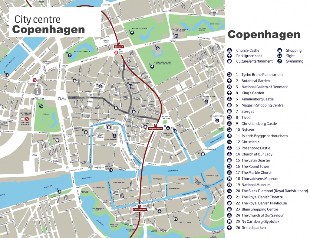Copenhagen Maps | Denmark | Maps Of Copenhagen - Printable Map Of Copenhagen