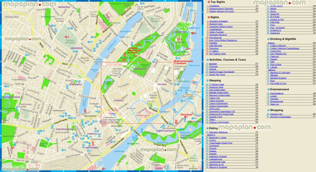 Copenhagen Maps - Top Tourist Attractions - Free, Printable City - Printable Map Of Copenhagen