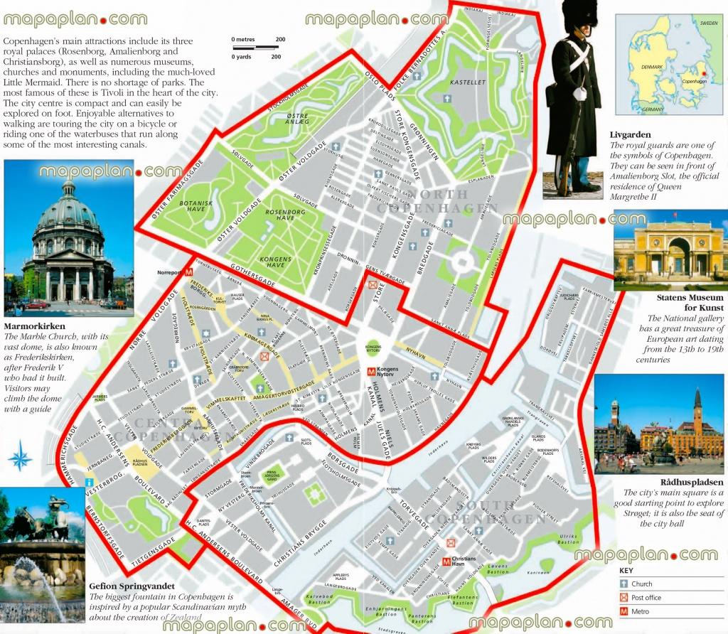 Copenhagen Maps - Top Tourist Attractions - Free, Printable City - Printable Tourist Map Of Copenhagen