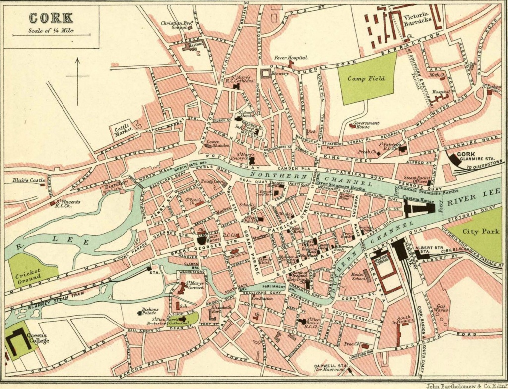 Cork In Old Maps - Cork City Map Printable
