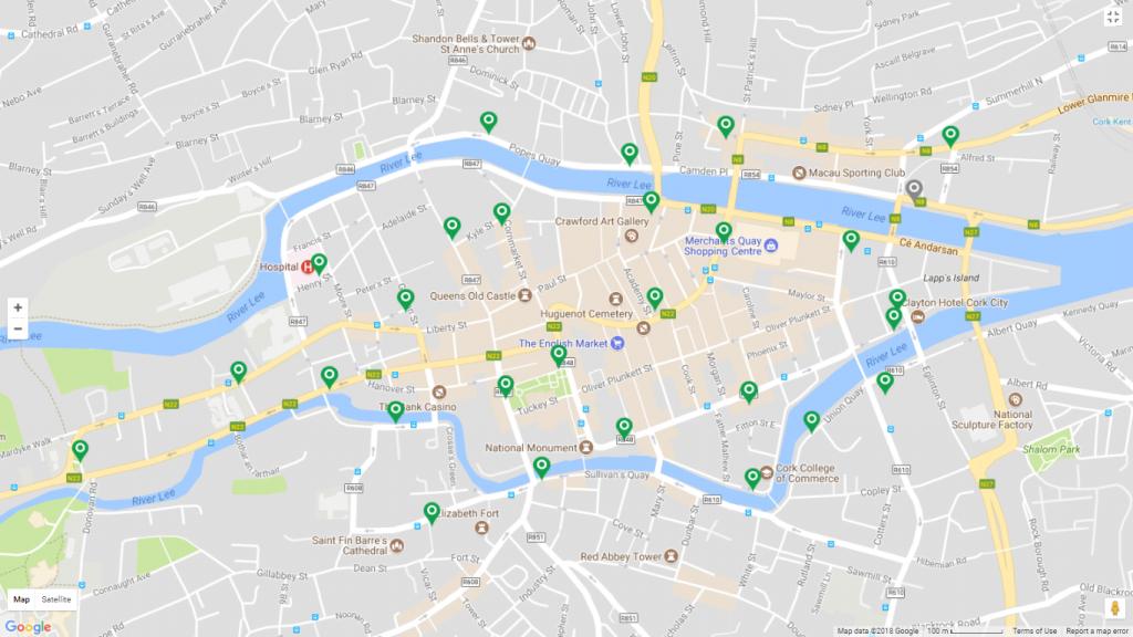 Cork Travel Information   Transportandmobilityforum - Cork City Map Printable