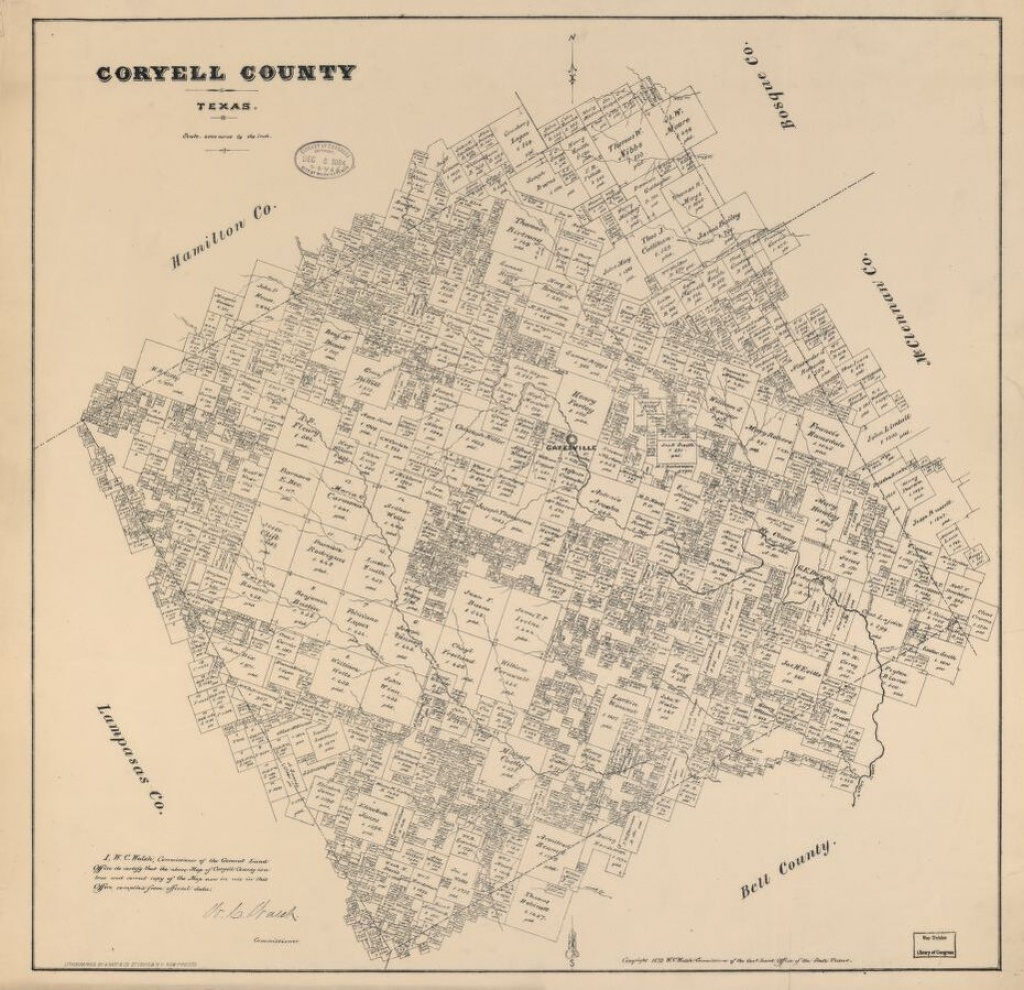 Coryell County, Texas. | Library Of Congress - Coryell County Texas Map