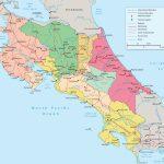 Costa Rica Political Map   Printable Map Of Costa Rica